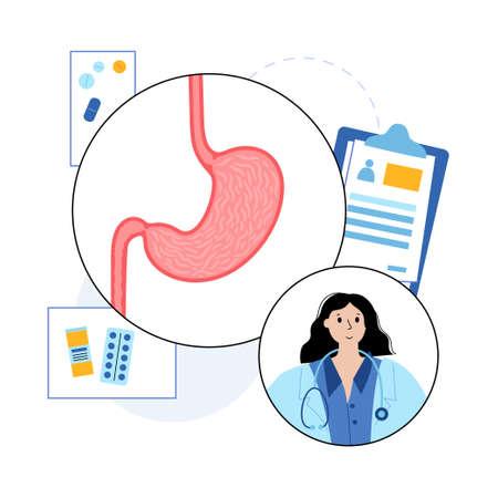 Stomach concept illustration 矢量图像