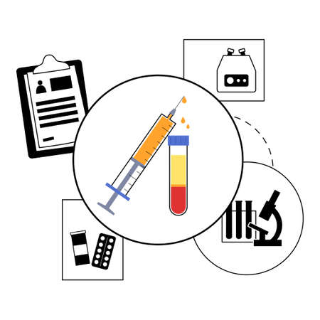 Platelet rich plasma concept illustration