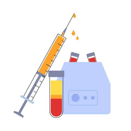 Platelet rich plasma concept Vector Illustration