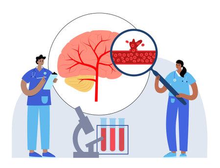 Brain stroke hemorrhagic 向量圖像
