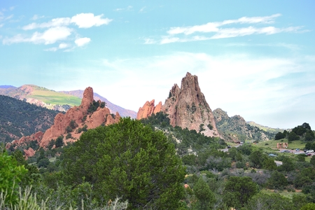 breath taking: Breath taking view of Garden of the Gods,Colorado Springs,Co. Stock Photo