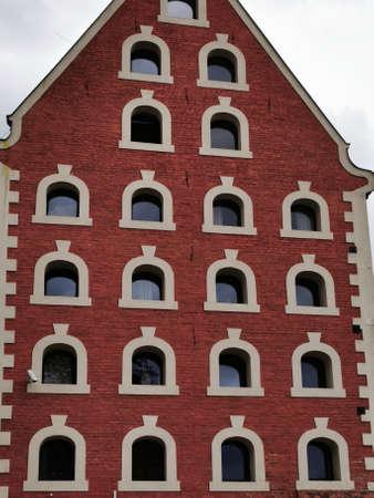 Torun Poland. Old tenement house in Torun.