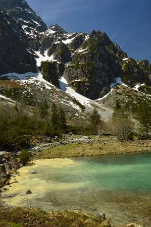 Tatra Mountains Poland (Morskie Oko) sea eye. Spring in the Tatras.