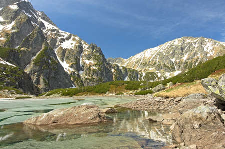 Tatra Mountains Poland Czarny Staw pod Rysy.