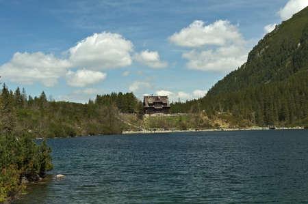 Poland Tatra Mountains. Hostel at Morskie Oko. Spring in the Tatras.