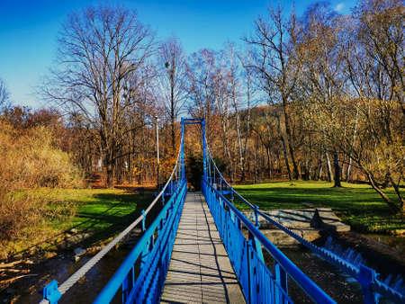 Bridge over the Vistula River in Ustron.