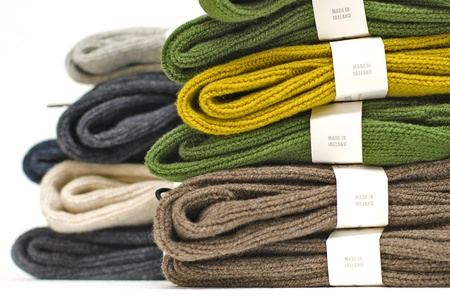 Irish wool chunky knit ribbed winter socks Stock Photo - 10084502