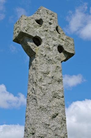 Example of pre 1900 irish celtic granite cross  photo