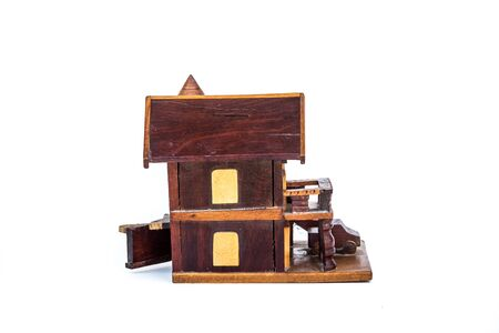 Wooden house model photo