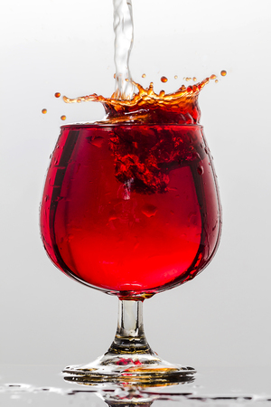 incidence: A splash of red wine The Movement Stock Photo