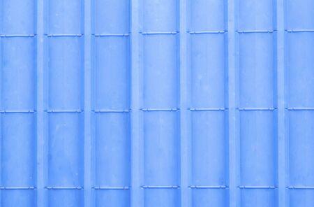sheet metal: Pattern of blue metal sheet roof for background.