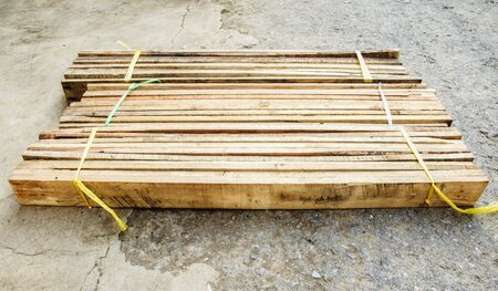 pallets: Wooden pallets Package Stock Photo