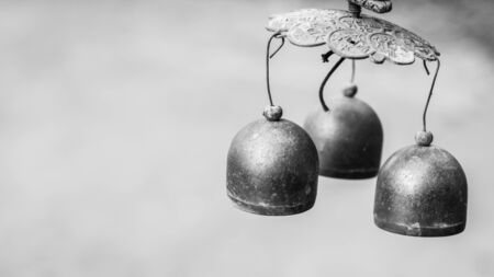 traditional healer: Chinas bell called windfall Stock Photo