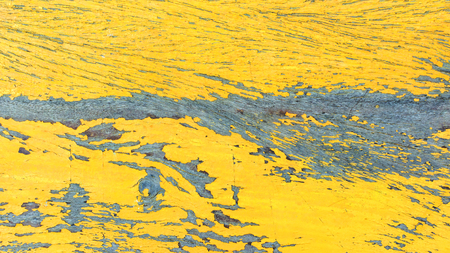 worn structure: Abstract background of wood painted yellow. Stock Photo