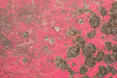 rustiness: The surface roughness of rust on iron red.
