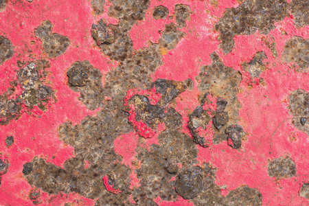 rust red: The surface roughness of rust on iron red.