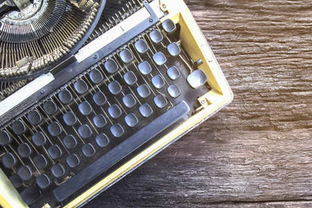 Thailand old-fashioned typewriter. Vintage style.