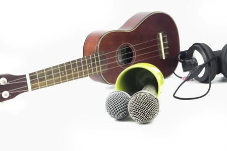 Microphone and Audio Recording Stock Photo
