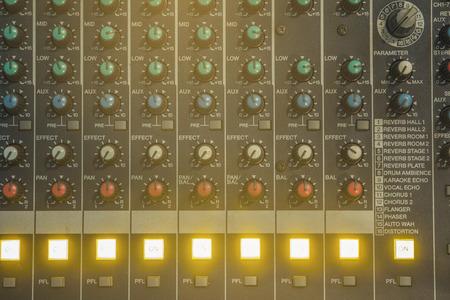 tune: Devices tune sound system. Stock Photo