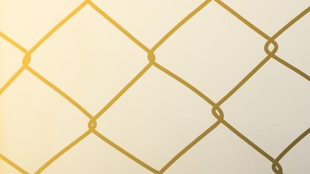 metal grate: Steel mesh fence.