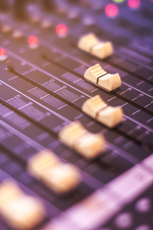 Sound control buttons for professional sound engineers.