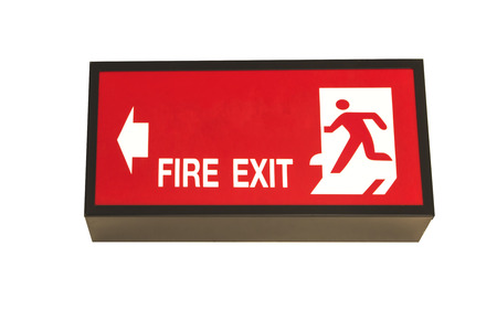 escape: Fire escape sign.