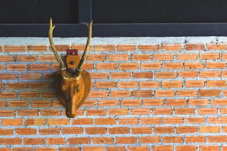 mule deer: Deer head decorated in the interior.