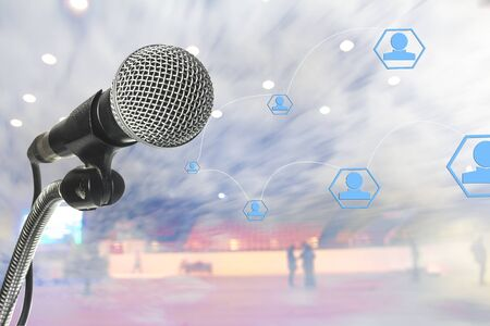Business microphone.Multimedia make money.