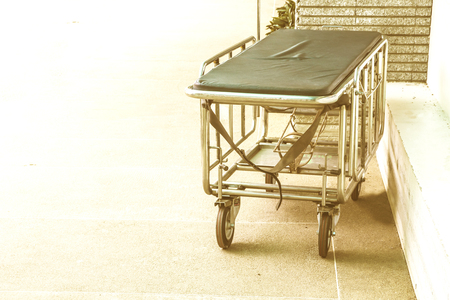 Trolley in the hospital. Stock Photo