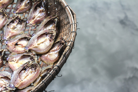 The food is made with salted fish, dried