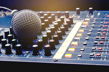 Microphone and Audio Mixer, Main Equipment for Voice Recording