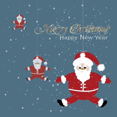 Santa Cross with Mary Christmas and Happy New Year.