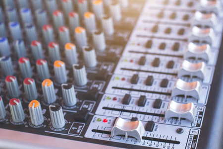 Sound mixer console for crystal clear sound.