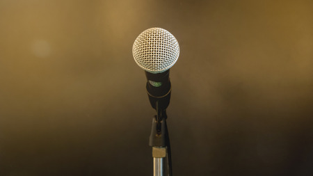 microphone on stand.