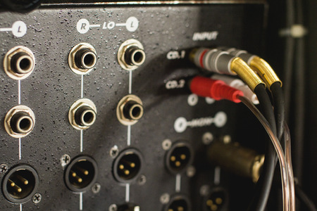 Input Connector for Audio Mixer.