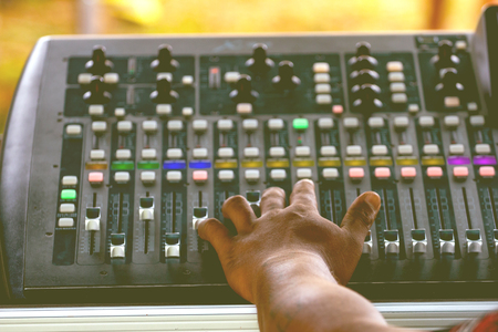 Technicians and professional audio equipment for the control of digital audio mixers.