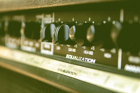 Slide the volume control sound audio mixer.