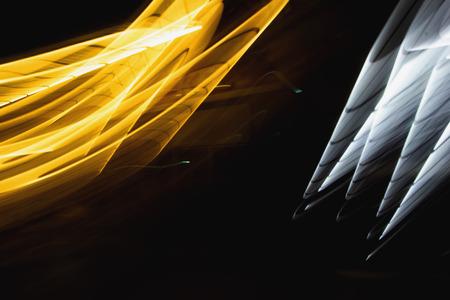 Wave motion of lights.