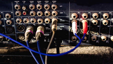Signal cable audio mixer.