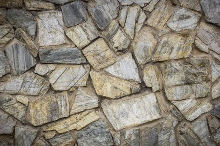Pattern, mortar and stone abstract background.