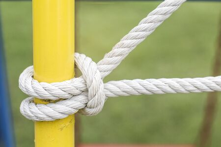 Tied into a knot as a play equipment.