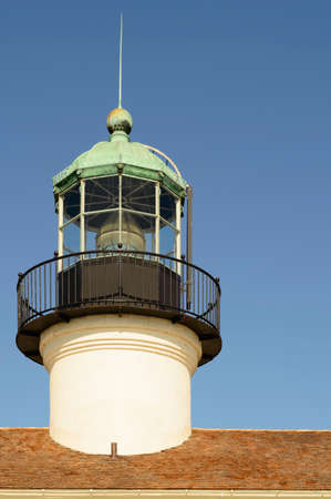 the 19th century: The light tower of a 19th century lighthouse Stock Photo