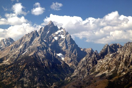 High Mountains of Grand Teton National Park in Wyoming photo