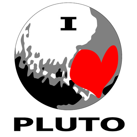 pluto: I love Dwarf Planet Pluto  Illustration