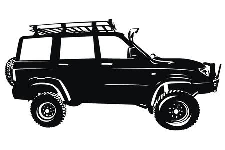 Automobile fuori strada 4x4 suv vettore silhouette Archivio Fotografico - 46793441