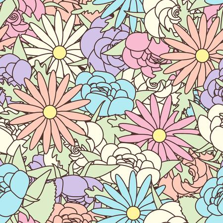 花の背景と抽象的なエレガンス シームレス パターン
