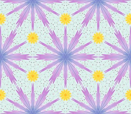 cornflowers: Seamless pentagonal pattern with floral ornament cornflowers Illustration
