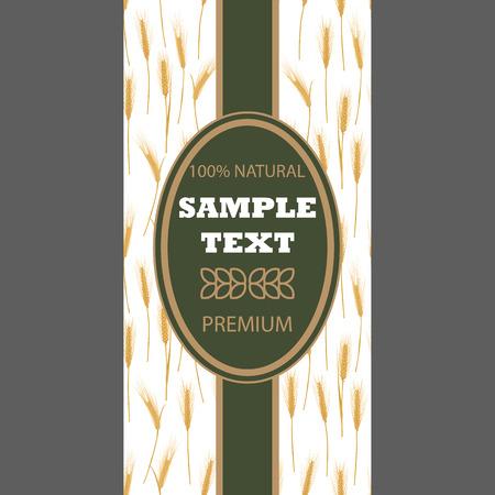 produits céréaliers: Fond pour le paquet d'étiquette bannière Seamless avec des oreilles de blé Concept pour les produits biologiques récoltent le grain de la farine de boulangerie nourriture saine.