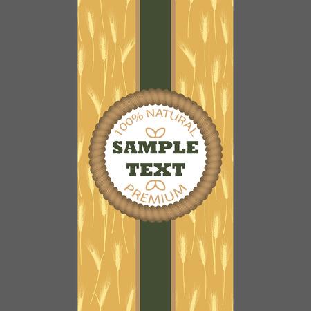 produits c�r�aliers: Fond pour le paquet d'�tiquette banni�re Seamless avec des oreilles de bl� Concept pour les produits biologiques r�coltent le grain de la farine de boulangerie nourriture saine.