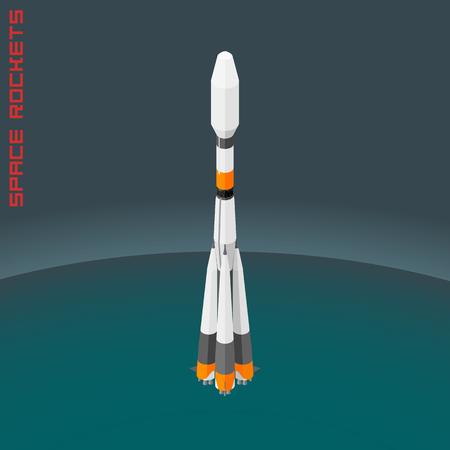 soyuz: Isometric Russian space rocket universal souz.